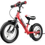 Беговел с ревом мотора, светодиодами и надувными колесами Small Rider Roadster 2 AIR Plus (красный)