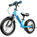 Беговел с ревом мотора, светодиодами и надувными колесами Small Rider Roadster 2 AIR Plus (синий)