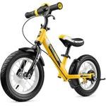 Беговел с ревом мотора, светодиодами и надувными колесами Small Rider Roadster 2 AIR Plus (желтый)