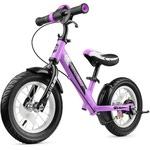 Беговел с ревом мотора, светодиодами и надувными колесами Small Rider Roadster 2 AIR Plus (фиолетовый)