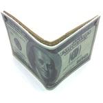 Кожаный кошелек. 100 долларов