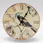 Настенные металлические часы. Птица