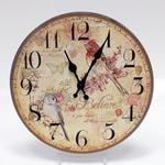 Настенные металлические часы. Птицы