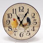 Настенные металлические часы. Курицы
