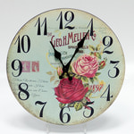 Настенные металлические часы. Розы