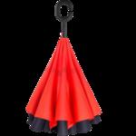 Зонт Наоборот (цвет красно-черный)