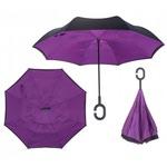 Зонт Наоборот (цвет фиолетово-черный)