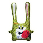 "Подушка-антистресс ""Заяц с комплиментами"" (зеленый)"