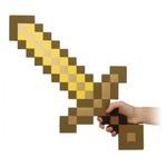 Большой золотой меч Майнкрафт Gold Pickaxe (60см)