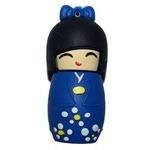 Подарочная флешка. Японка в синем кимоно