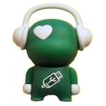 Подарочная флешка. Музыкальный человек (зеленый)