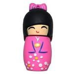 Подарочная флешка. Японка в розовом кимоно