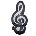 Подарочная флешка. Скрипичный ключ черный