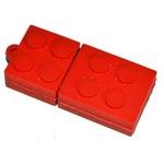 Подарочная флешка. Конструктор Лего. Красный