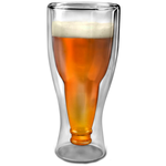Подарочный стеклянный стакан. Перевернутая бутылка пива