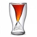 Подарочный стеклянный стакан. Рыбий хвост