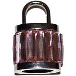 Подарочная металлическая флешка. Навесной замок розовый