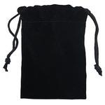 Подарочный бархатный мешочек. Цвет черный (6,5 х 11 см)