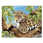 Раскрашивание по холсту. Размер холста 30*40 см. Леопард в лесу