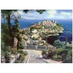 Раскрашивание по холсту. Размер холста 40*50 см. Княжеский дворец в Монако