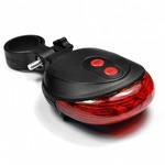 Фонарь-лазер для велосипеда (красный)