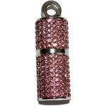 Подарочная металлическая флешка. Помада розовая со стразами