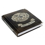 Подарочная книга в кожаном переплете. Масонство. Символы, тайны, учения