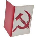Кожаная обложка на паспорт. Серп и молот