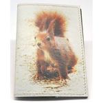 Кожаная обложка на паспорт. Белка
