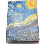 Кожаная обложка на паспорт. Ван Гог. Звездная ночь