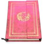 Подарочный блокнот с магнитной застежкой. Цвет розовый