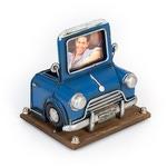 """Фоторамка с подставкой для ручек """"Автомобиль синий"""""""