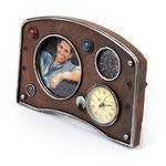 """Настольные часы с фоторамкой """"Панель приборов"""""""