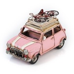 """Модель Ретро """"Автомобиль"""" розовый, с фоторамкой"""