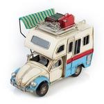"""Модель Ретро """"Автомобиль"""" белый с голубым, фургон с фоторамкой"""
