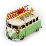 """Модель Ретро """"Автобус"""" зелёный с белым, с фоторамкой"""