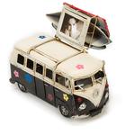 Копилка в виде ретро-автобуса с фоторамкой