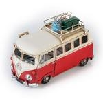 """Модель Ретро """"Автобус"""" красный с белым с фоторамкой"""