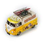 """Модель Ретро """"Автобус"""" жёлтый с белым, с фоторамкой и подставкой для ручек"""