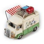 """Модель Ретро """"Автобус"""" белый с зелёным, с фоторамкой и подставкой для ручек"""