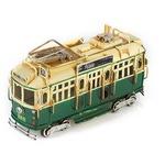 """Модель Ретро """"Трамвай"""" зелёный, с фоторамкой"""
