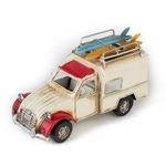 """Модель Ретро """"Автомобиль"""" белый с красным, с фоторамкой и подставкой для ручек"""