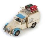 """Модель Ретро """"Автомобиль"""" белый с синим, с фоторамкой и подставкой для ручек"""