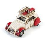 """Модель Ретро """"Автомобиль"""" белый с красным, с фоторамкой"""