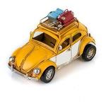 """Модель Ретро """"Автомобиль"""" жёлтый, с фоторамкой"""