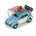 """Модель Ретро """"Автомобиль"""" синий с белым, с фоторамкой"""