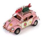 """Модель Ретро """"Автомобиль"""" розовый, с фоторамкой и подставкой для ручек"""