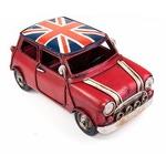 """Модель Ретро """"Автомобиль"""" красный, британский флаг на крыше"""