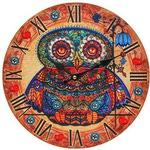 """Часы настенные """"Волшебная сова с рябиной"""""""