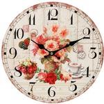 """Часы настенные """"Розы и кофе"""""""